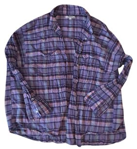 Madewell Button Down Shirt Purple/Multi