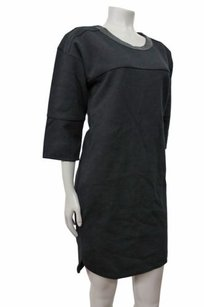 Madewell short dress Black Piqu Ponte In on Tradesy