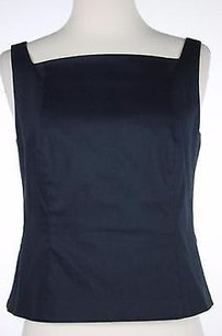 Magaschoni Mag Womens Solid Top Navy Blue
