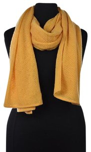 Magaschoni Magaschoni Womens Orange Scarf One Cashmere Textured Knit