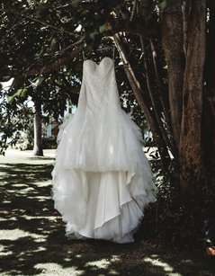 Maggie Sottero Ivory Tulle Millicent Traditional Wedding Dress Size 14 (L)