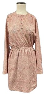 Maison Jules short dress Pink Womens Patterned Long Sleeves Knee Length 5255a on Tradesy