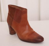 Maison Margiela Maison Womens Leather Ankle Brown Boots