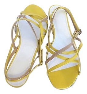 Maison Martin Margiela Strappy yellow,nude Sandals