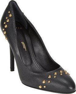 Maiyet Leather Round Black Pumps