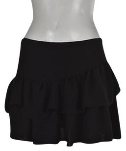 Maje Womens Tiered Textured Party Skirt Black