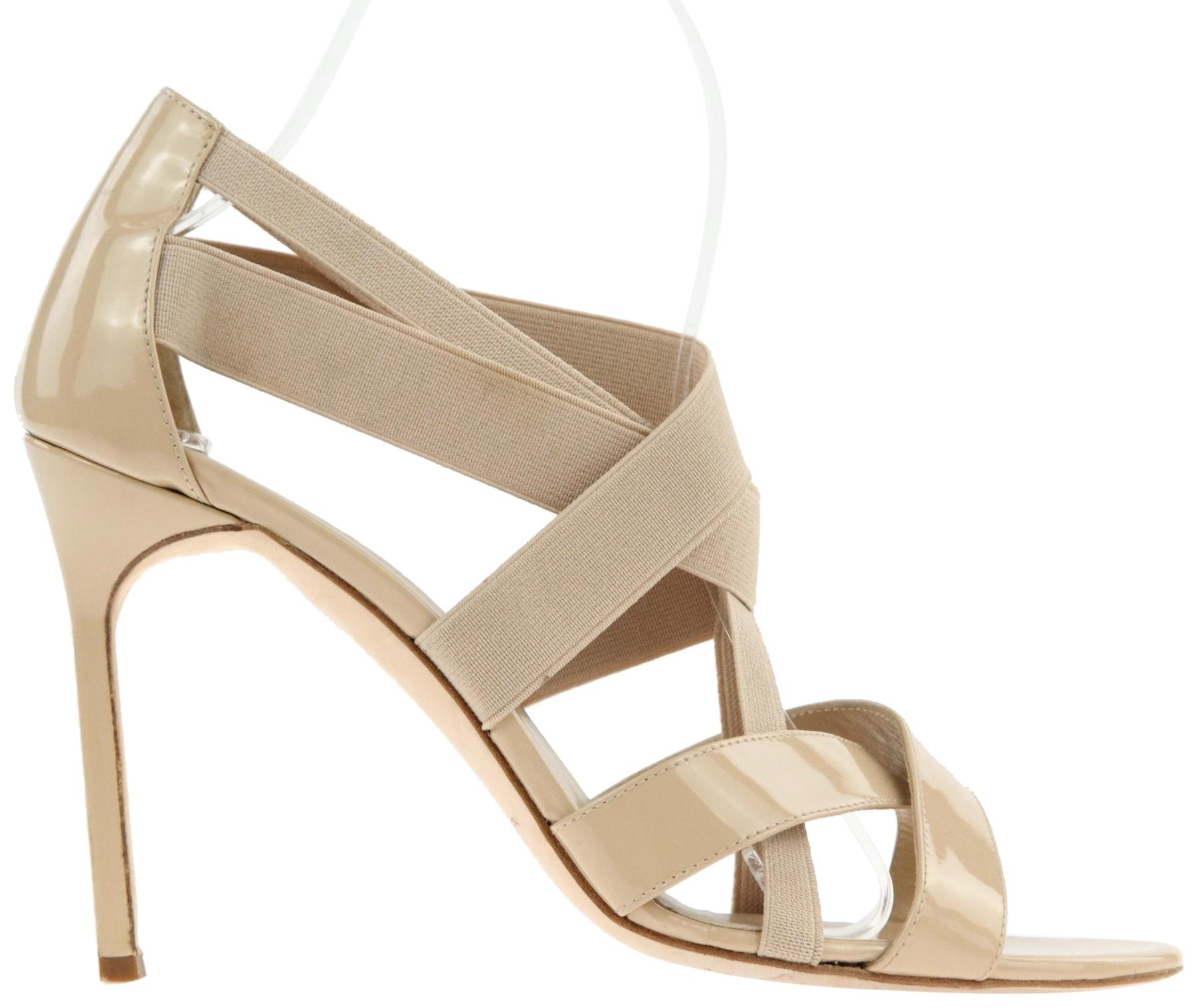 Manolo Blahnik Beige Strappy Pumps Size EU 39 (Approx. US 9) Regular (M, B)