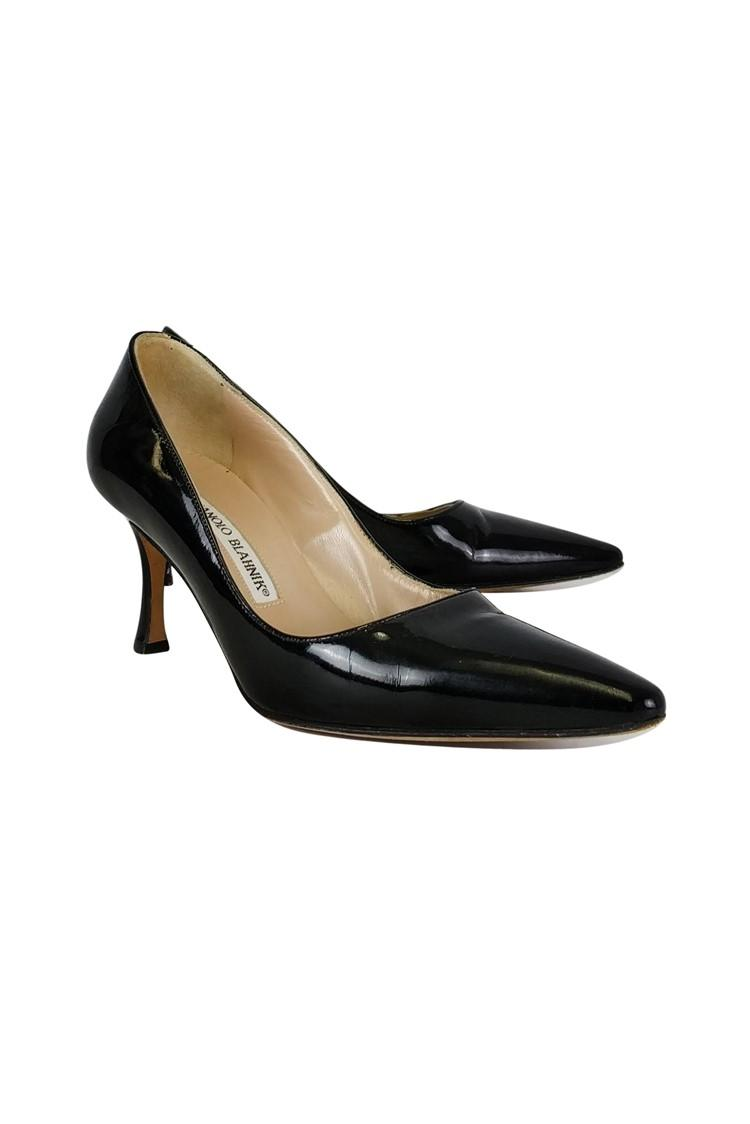 Manolo Blahnik Black Pumps Size US 7 Regular (M, B)