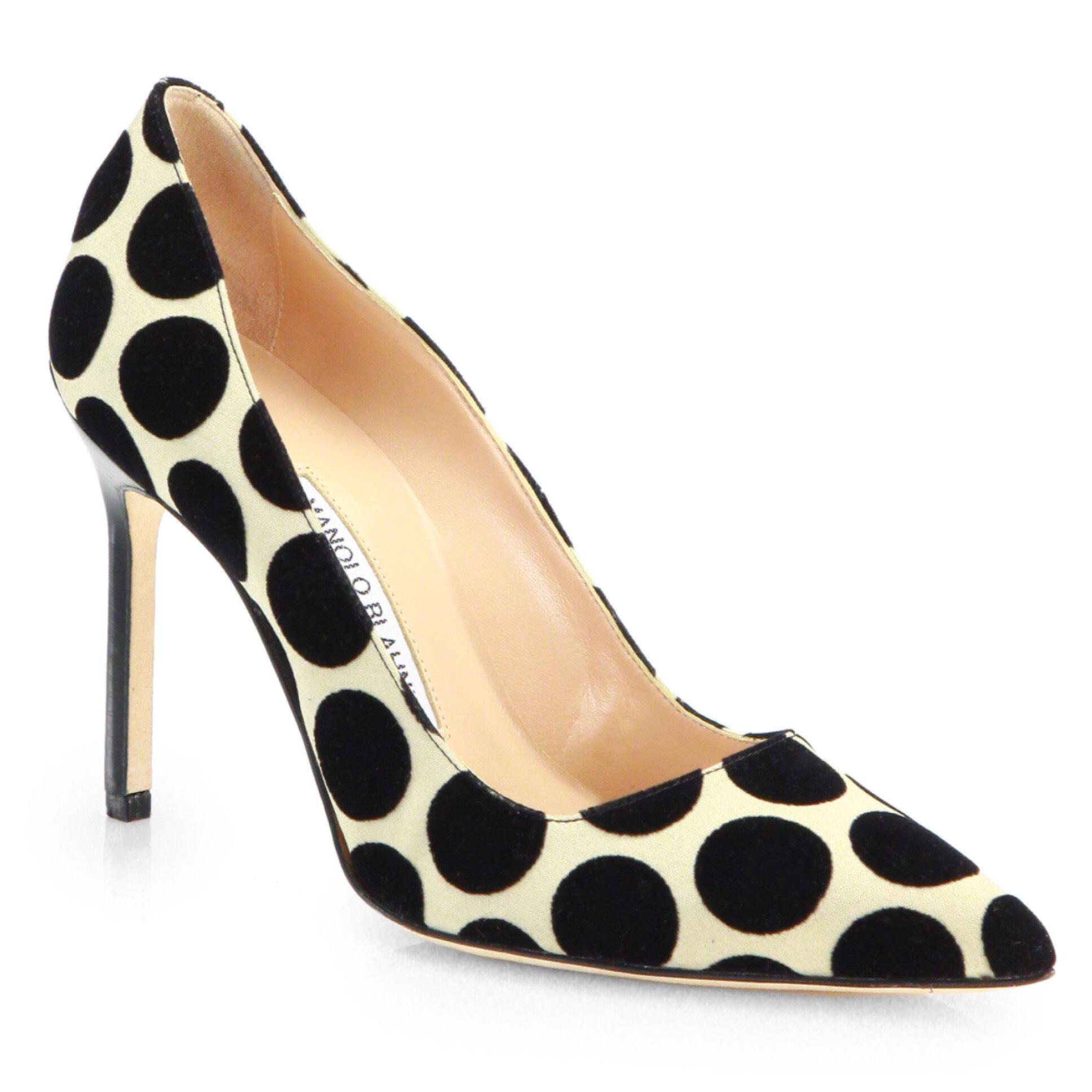 cheap with paypal 2015 new cheap price Manolo Blahnik Polka Dot Pointed-Toe Pumps clearance 2015 new cheap sale get authentic eByFsxX