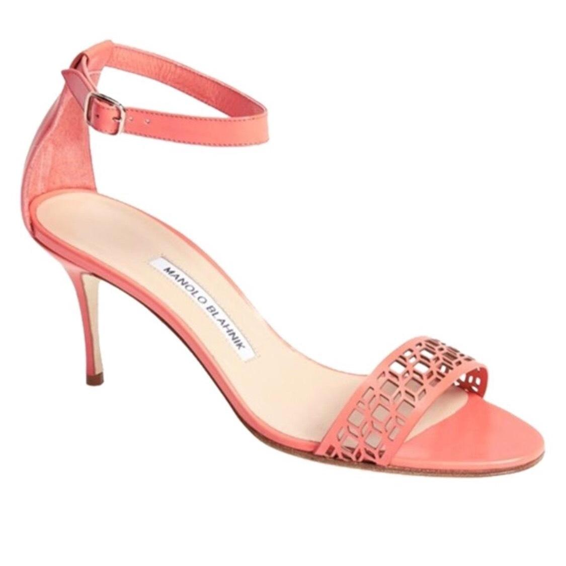Manolo Blahnik Coral Pink Sandals on Sale, 76% Off ...