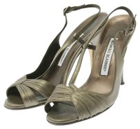 Manolo Blahnik Grey Sandals