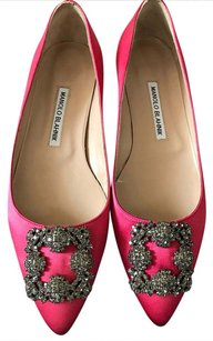 Manolo Blahnik Manolo Hangisi Hangisi Hangisi Ballet Size 38.5 Watermelon Red Flats