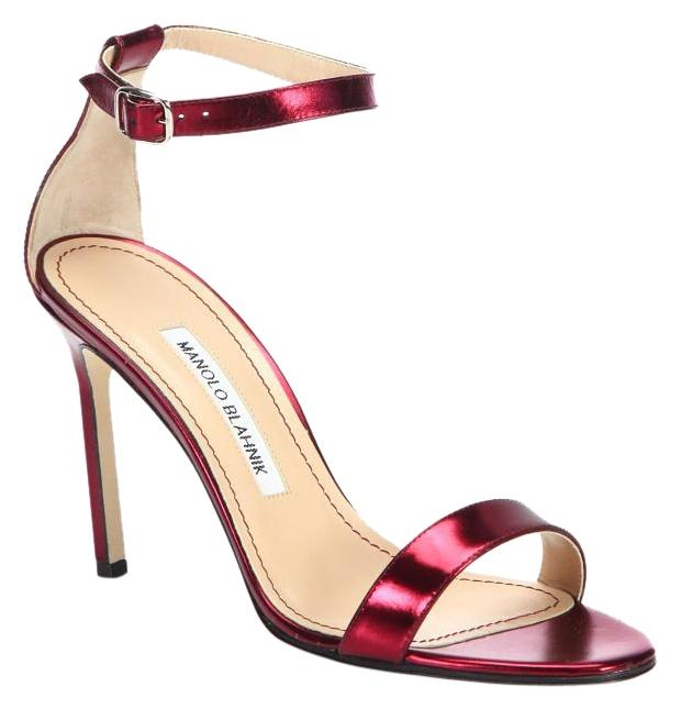 Manolo Blahnik Patent Leather Ankle Strap Pumps low shipping fee cheap price Zr1W1