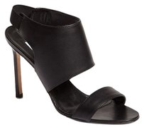 Manolo Blahnik Loyal Shield Black Sandals