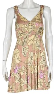 Mara Hoffman Womens Pink Sheath Silk Printed Above Knee Sheath Dress