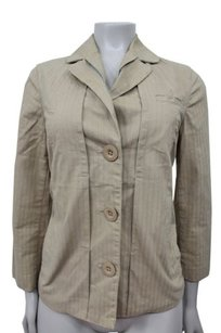 Marc by Marc Jacobs Striped 34th Sleeve Camel Jacket