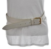 Marc by Marc Jacobs Marc By Marc Jacobs Womens White Belt Leather Textured Casual