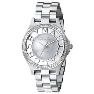 Marc by Marc Jacobs MBM3337 Crystal accented Henry Skeleton Glitz 34Mm Stainless Steel