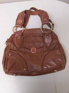 Marc by Marc Jacobs Leather Triple Pocket Zip Top B1714 Satchel in Brown