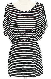 Marc by Marc Jacobs Striped Batwing Tie Oversized Tunic
