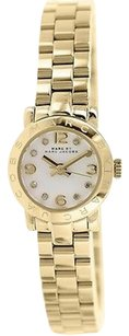 Marc by Marc Jacobs Womens Marc By Marc Jacobs Mbm3226 Gold Tone Amy Dinky Watch