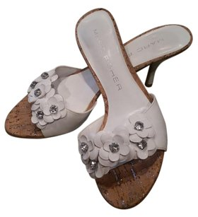 Marc Fisher White Sandals