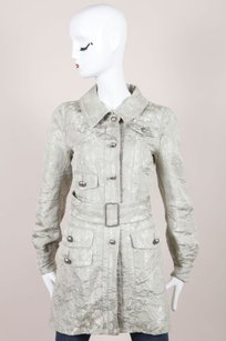 Marc Jacobs Gray Silver Tone Jacket