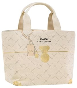 Marc Jacobs Cosmetics Makeup Travel Tote in Cream, Gold, Black, and Pink