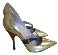 Marc Jacobs Heel Pointed Toe Gold Pumps