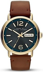 Marc Jacobs Marc By Marc Jacobs Fergus Leather Mens Watch Mbm5077