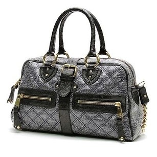Marc Jacobs Quilted Satchel in Navy Blue