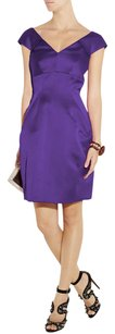 Marc Jacobs Satin Off Pleated Structured Full Skirt Dress
