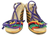 Marc Jacobs Womens Yellow Purple Sandals