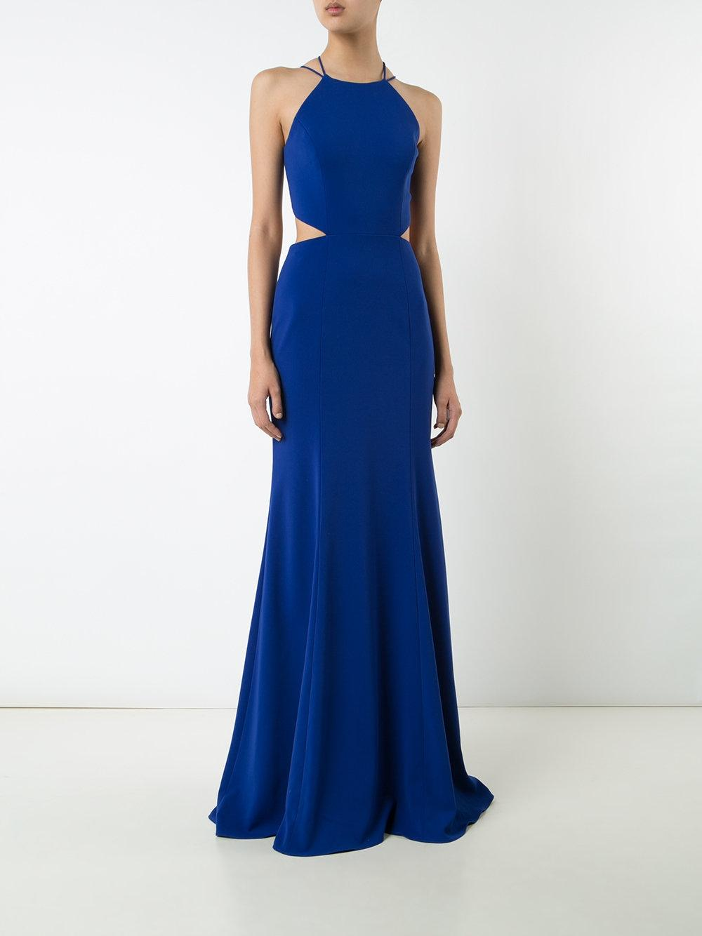 Marchesa Notte Woman Tasseled Embellished Stretch-cady Gown Royal Blue Size 16 Marchesa Cheap Exclusive WsP3ufVt