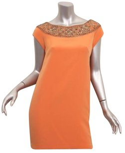 Marchesa short dress Orange Womens Beaded on Tradesy