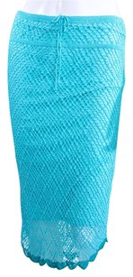 Marciano Crochet Knit Skirt AQUA