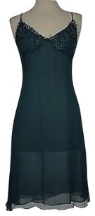 Marciano short dress Teal Womens Solid on Tradesy