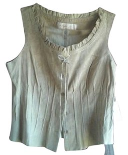 Margaret Godfrey Suede Cowboy Western Indian Top Beige