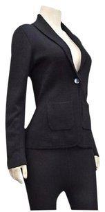 Margaret O'Leary Margaret Oleary Black Wool Knit Shawl Collar Sweater Jacket 210498ms