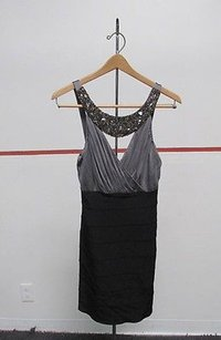 Maria Bianca Nero Sleeveless Beaded Knee Length P 28179 Dress