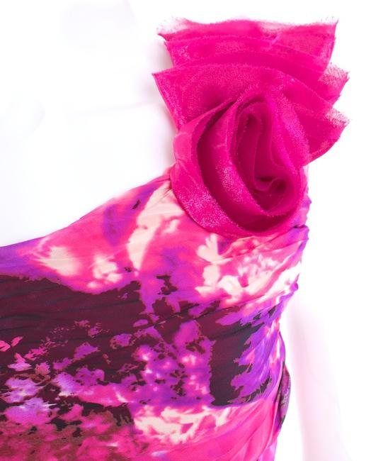 MARIA BONITIA Ruffle Rose Dress
