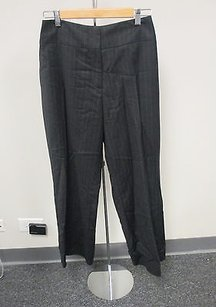 Maria Pinto Dark Pinstripe Flat Zip Front Career Dress Slacks J374 Pants