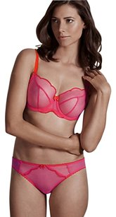 Mark & Spencer Mark & Spencer Sheer Scallop Trim Set with Non-Padded Balcony Size UK 32DD/8
