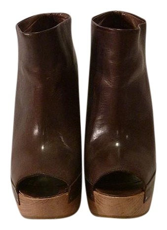 Marni Brown Peep-toe Boots/Booties Size US 8 Regular (M, B)