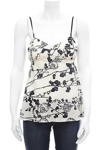 Marni Black Floral Top Ivory