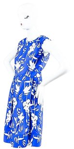 Marni short dress Blue White Floral Print on Tradesy