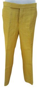 Marni Dress Pant Slacks Ankle Straight Pants yellow