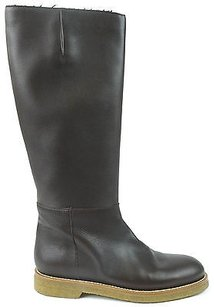 Marni Black Leather Dark Brown Boots
