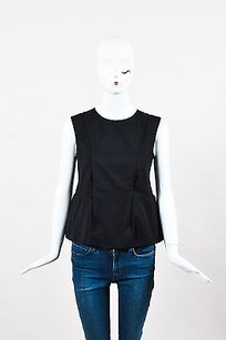 Marni Sleeveless Peplum Top Black