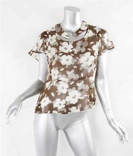 Marni Womens Top Brown, Ivory
